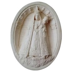 19th Century Meerschaum Carving of Our Lady of Fourvier