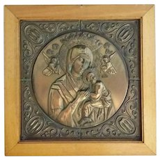 Framed Our Lady of Perpetual Help Icon