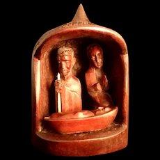 African Handmade Wood Nativity