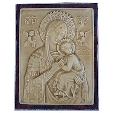 Our Lady of Perpetual Help, Plaque, Jerusalem