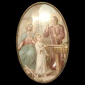 Holy Family in Saint Joseph's Workshop Devotional