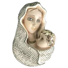 Mid-Century Madonna and Child Wall Plaque