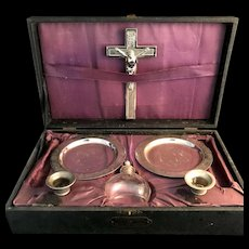 Vintage Sick Call Cabinet for Holy Communion