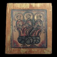 Vintage Icon of the Holy Trinity