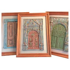 Church Doors of Quito Sculptures, Set of Three