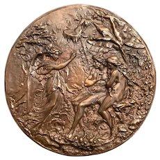 The Expulsion of Adam & Eve Bronze Plaque
