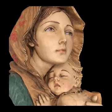 Classic Madonna & Child Wall Decor