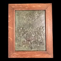 The Nativity,  Framed Bronze Relief by Favier, 19th C