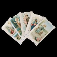 Five French Holy Cards