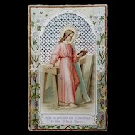 Antique Holy Card: Consecration to Jesus