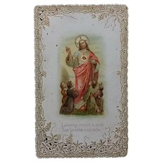 Gilded French Holy Card