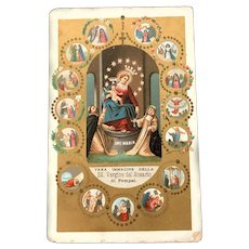 Our Lady of Pompeii Rosary Holy Card