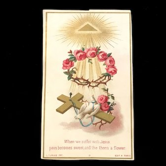 Suffer with Jesus Holy Card