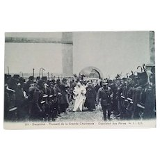 1903 Photo Postcard of the Expulsion of the Monks of Chartreuse