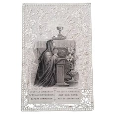 Antique Lace Holy Card: Act of Contrition