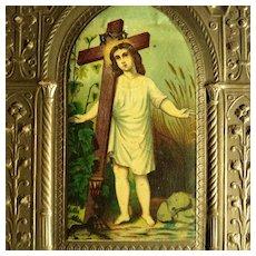 Huge Scenes of Christ on Embossed Paper, Set of 3