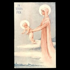 """WWI """"In Terra Pax"""" Postcard, 1918, French"""