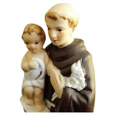 Saint Anthony and the Child Jesus Figurine