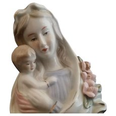 Mid-Century Madonna & Child Figurine