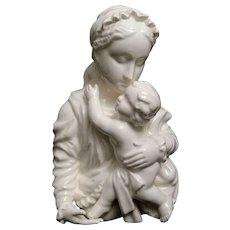 Porcelain Madonna & Child Figure