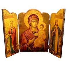Greek Icon Triptych