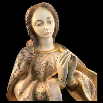 Vintage Blessed Virgin Mary Statue made in Spain