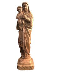 Madonna & Child Folk Art Statue