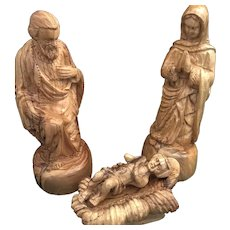 Large Hand-Carved Holy Family Nativity Set