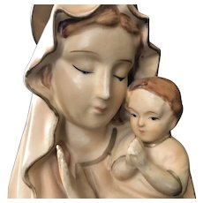 Vintage Madonna & Child Figurine