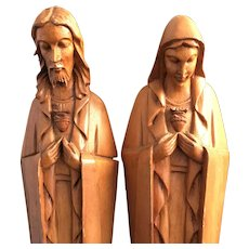 Sacred Heart of Jesus and Immaculate Heart of Mary Statue Set
