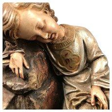 Antique Resting Jesus Statue