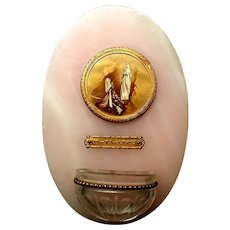 Lourdes Holy Water Font in Pink Marble
