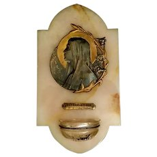Madonna of the Lilies Holy Water Font