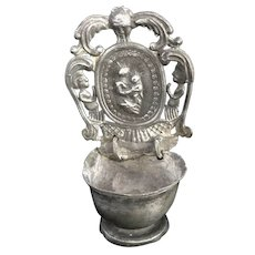 18th Century German Pewter Holy Water Font