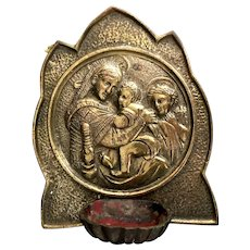 Madonna and Child Holy Water Font from Banneux