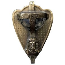 Heart-Shaped Holy Water Font with Face of Christ