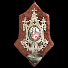 Antique French Holy Water Font