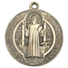Large Saint Benedict Medal with Blessings and Exorcism