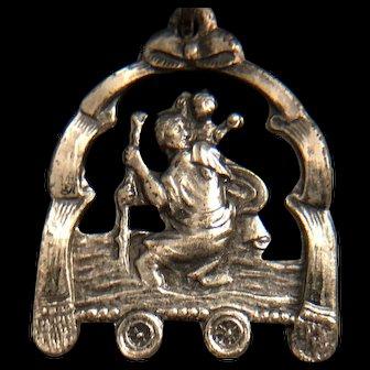 Unique Saint Christopher / Saint Anne with Mary Medal