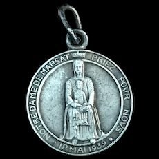Our Lady of Marsat / Saint Gregory of Tours Medal, 1939