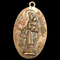 Sacred Heart / Our Lady of Mount Carmel Scapular Medal