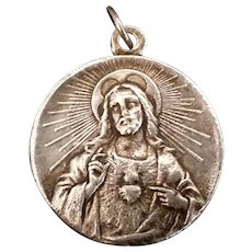 Sacred Heart of Jesus & Madonna Medal