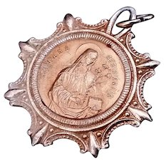Vintage Medal with Saint Francis & Saint Clare of Assisi