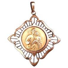 Saint Joseph & Christ Medal