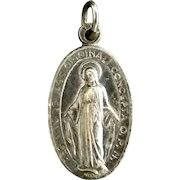 Miraculous Medal with Saint Christopher