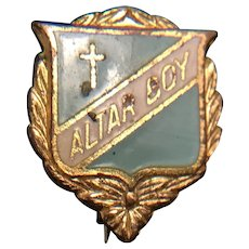 Antique Altar Boy Pin