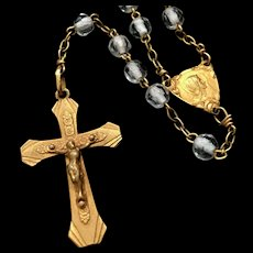 Stunning Faceted Crystal Bead Rosary