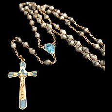 Art Deco Rosary with Leather Case