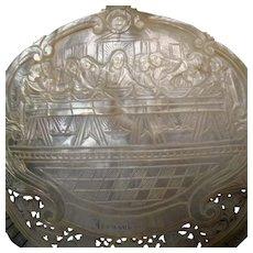 Large Mother of Pearl Last Supper Jerusalem Souvenir