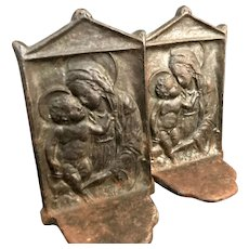 Madonna and Child Cast Bookends